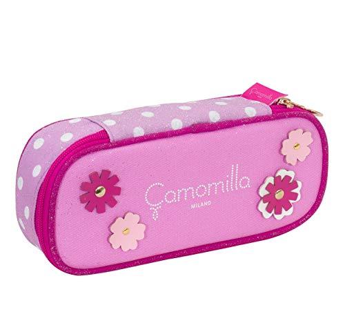 Bustina Round Plus Camomilla, Rosa, scomparto interno portapenne
