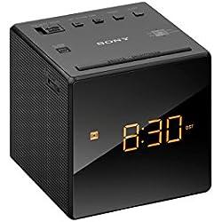 Sony ICF-C1 Radiosveglia con Sintonizzatore, FM/AM Analogico, 0.1 W, Unità Driver 6.6 cm, Nero