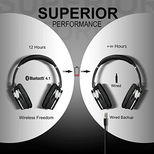 Casque Bluetooth Sans Fil Antibruit - Hiearcool Headphones Wireless Reduction de Bruit Universel Portable,Stéréo Qualité HIFI, pour tous les... 8