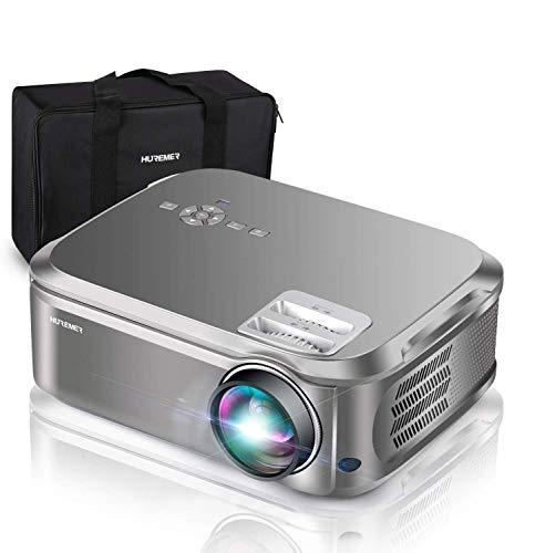 """HUREMER Beamer, 6500 Lumen Full HD Native 1080P Beamer, 3D Video Projektor Heimkino Mit 200\"""" Display,Unterstützt HDMI,USB,VGA,TV Stick,Xbox,Laptop,Phone,Computer für Haus, Büro, Unterhaltung im Freien"""