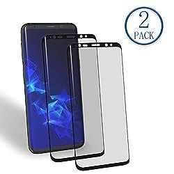 Kaufen Mr.Twinklelight Samsung Galaxy S9 Full Cover Panzerglasfolie (3D Abgerundete) Klar Glat/Anti-Kratzer/Anti-Fingerabdruck/ 99% Transparente/ 9H Härtegrad/Galaxy S9 Displayschutzfolie (2 Stück, Schwarz)