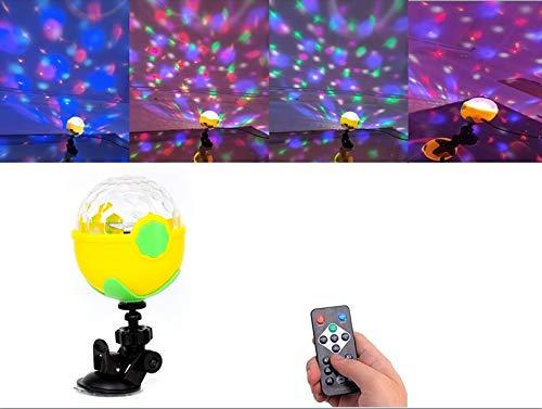 FIZLOZ 1pcs USB Party Lights Mini Disco Ball,Led Small Magic Ball Sound Control DJ Stage Light Colorful Strobe RGB Lamp for Christmas/Brithday Club/Karaoke Decorations