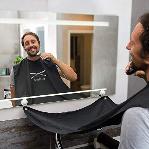 |Bartschürze| Das Original Barttuch von BARTLOS inkl. Transportbeutel - für die perfekte Rasur, egal ob Schneiden, Trimmen oder Stutzen (Bart Schürze/Rasiertuch)