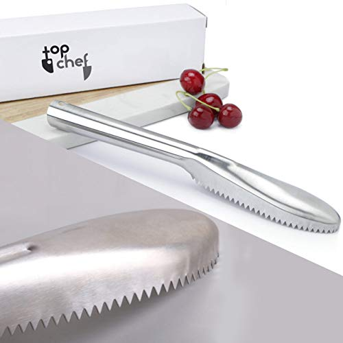 TOP Chef Fish Scale Cleaner with Stainless Steel Ergonomic Handle