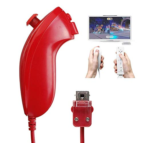 Goglor for Gamepad Wii, Left & Curved Handle,Chicken Drumstick Remote Control,Controllers Joystick Compatible for Nintendo Wii Project