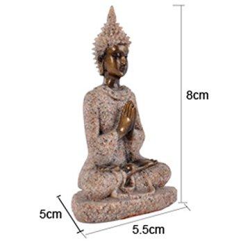 Estatua Estatuilla de Piedra Arenisca Escultura de Buda Meditación Tallada a Mano #3 5