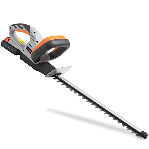 VonHaus Cordless Hedge Trimmer/Cutter with 20V MAX Battery, Charger & Blade Cover - Includes Dual Action Lazer Cut Blades, Soft Grip Handle & Anti Vibration System - Li-Ion G Range