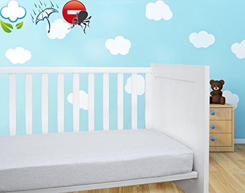 Savel, Coprimaterasso / Proteggi Materasso per lettino bambini imbottito in spugna 100% cotone,...