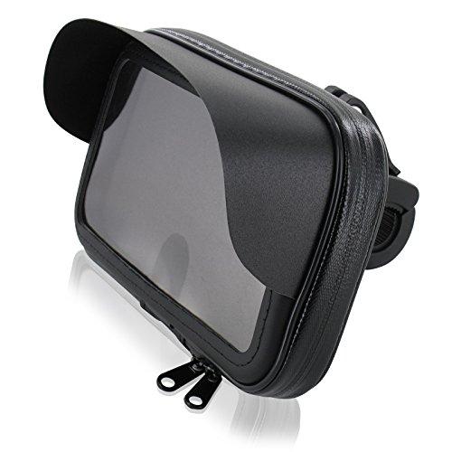 FM24 Motorrad Fahrrad Bike Set Halterung Tasche mit Sonnendach L für Smartphone Handy Geräte bis max. 150 x 80 mm