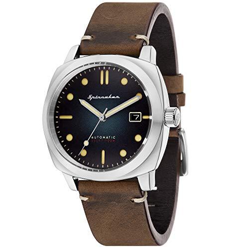 Spinnaker Herren-Armbanduhr, Vintage-Serie, Hull, automatisch, 42 mm, 10 ATM, braunes Lederband, SP-5059-01