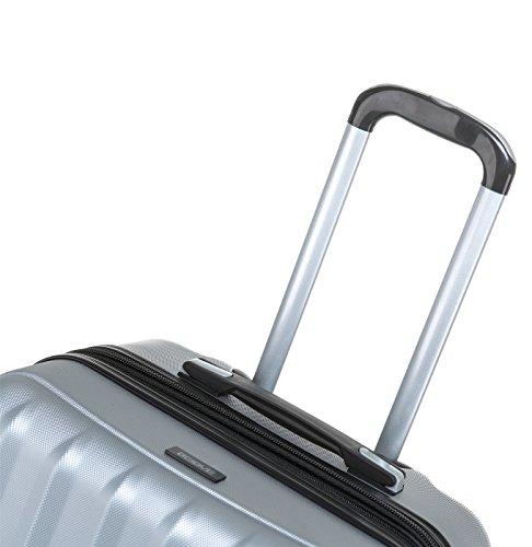 2080 TSA-Schloß Zwillingsrollen 3 tlg. Reisekofferset Koffer Kofferset Trolley Trolleys Hartschale in 12 Farben (Silber) - 6