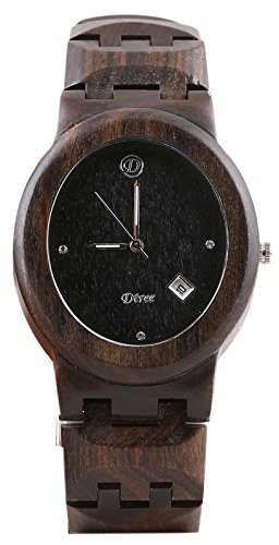 Dtree Analogue Black Dial Horse Women's Wooden Watch