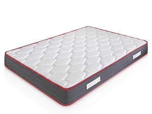 marcKonfort Matelas Ergo-Therapy 140x190 à mémoire de Forme | 18 cm Épaisseur | 2 cm de Mousse à mémoire de Forme de 65 kg/m3 | Foam AirSistem | Extrêmement Durable | Certification ISO 9001