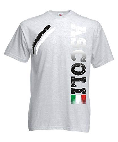 Generico t-Shirt Ascoli Tifosi Ultras Calcio Sport dalla S alla 3XL e Taglie per Bambini(XL, Grigio)