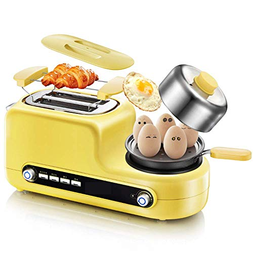 QIN.J.FANG-Cucina 5 in 1 Toaster frittata multi-funzione, toast, uovo al vapore, carne al vapore,...