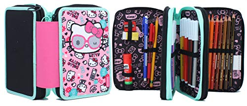 Astuccio 3 Zip Fabulous Hello Kitty