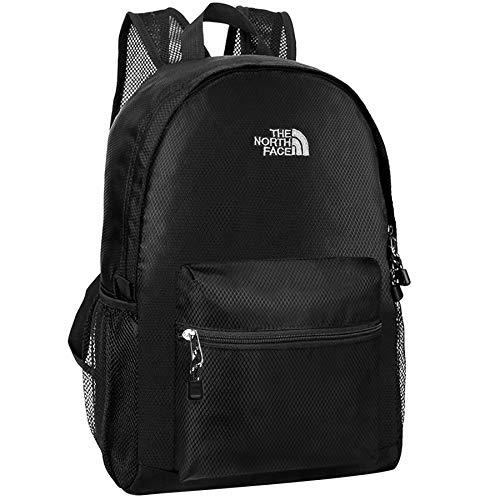 Bioasis Hiking Backpack, 35L Ultra Light Folding Backpack for Men Women Kids for School Hiking Camping Travel - Black