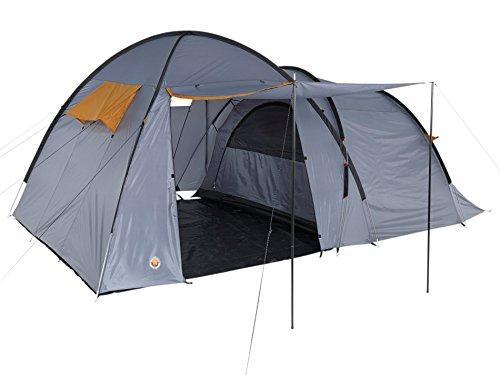 GRAND CANYON Fraser 3 - tienda para camping (tienda para 3 personas), gris/naranja, 302019