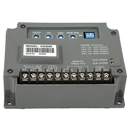Panel de control de velocidad universal EG2000, panel de control de velocidad del motor del gobernador generador eléctrico Lectric 10-30VDC / 600-9500 Hz, para motores de vapor, diesel y gas natural
