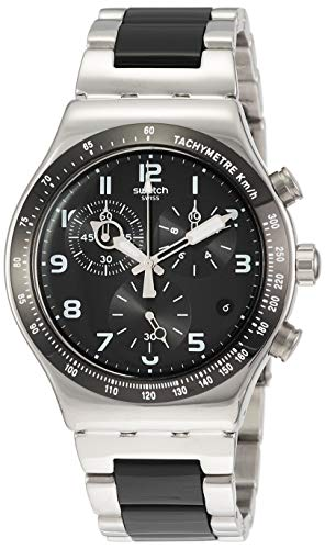 Swatch Orologio Cronografo Quarzo Uomo con Cinturino in Aluminio YVS441G