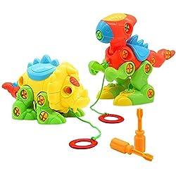 Dinosaurios Juguetes Puzzle Infantiles Herramientas Juguetes Bloques Construccion Tiranosaurio Rex Juguete educativo para Niños 3 4 5