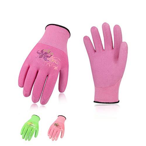 Vgo, 3 paia, guanti da lavoro e giardinaggio con rivestimento in lattice, guanti da giardino donna,...