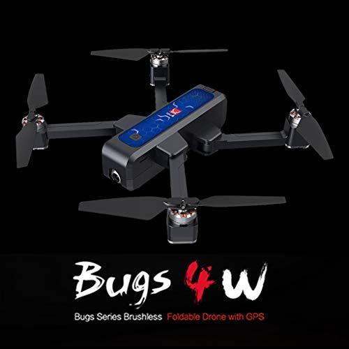 Uav drone-TianranRT MJX Bugs 4 W B4W 5G WIFI FPV GPS Drone pieghevole senza spazzole RC con fotocamera HD 2K,con Grandangolare Regolabile Camera HD Quadricottero Funzione-Blu