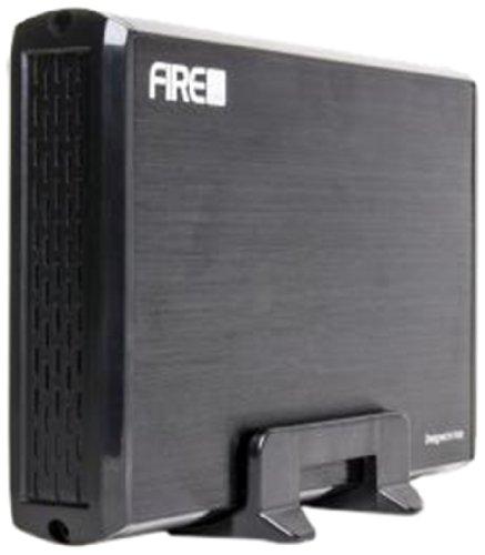 Firecube Case Esterno In Alluminio per Hard Disk Sata da 3,5' con Interfaccia USB 3.0, Nero