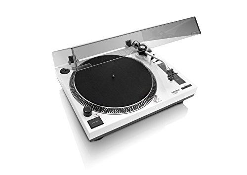 LENCO L-3808 White, Giradischi Trazione Diretta con Porta USB e Pre Phono escludibile