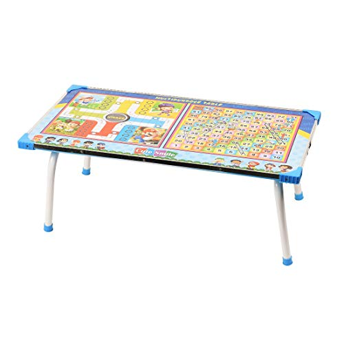 Digionics Wooden Ludo, Snakes and Ladders Printed Foldable Study Table