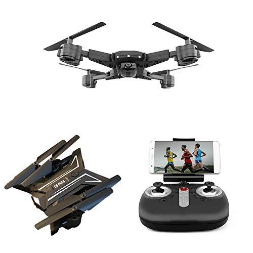 Drone GPS con Videocamera HD WiFi FPV RC Quadricottero Telecomandato con Funzione Regolabile Camera Seguimi Altitudine Attesa Senza Testa E Controllo di più Lunga Distanza Compatibile VR,480P/30W