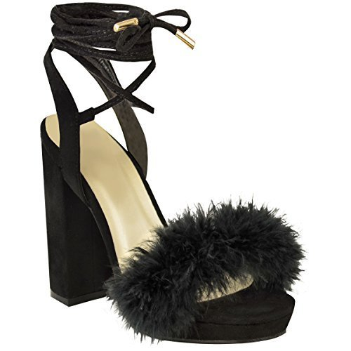 361c95b9ec1 Womens Ladies Block High Heel Sandals Ankle Tie Up Fur Strappy Platforms  Size UK - SixtySomething - Over Sixty Lifestyle Magazine