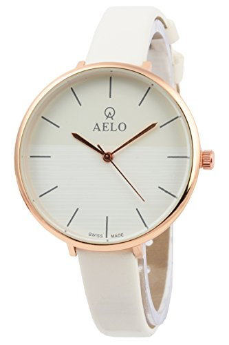 AELO Analogue White Dial Girls,Women's Watch