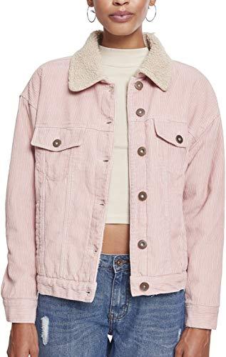 Urban Classics Damen Jacke Ladies Oversize Sherpa Corduroy Jacket,...