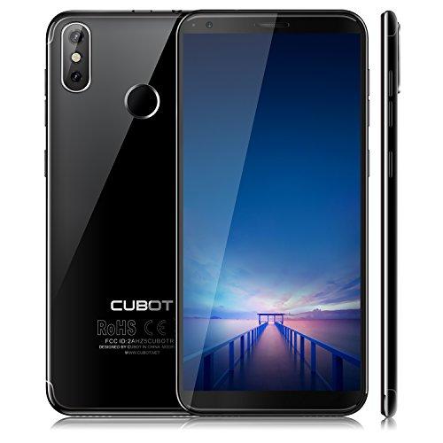 "CUBOT R11 (2018) Pantalla 18:9/5.5""Diseño El Fin de los Bordes Detección de Huellas Android 8.1 Dual Sim 2GB + 16GB, Dual Cámara Trasera 13MP+2MP / Frontal 8MP, Quad-Core 2G / 3G 2800 mAh Negro"