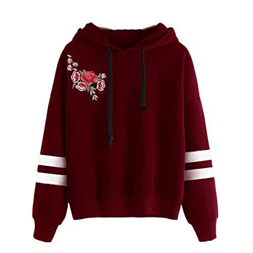Goosuny Sport Hoodie Damen Stickerei Applique Langarm Hooded...