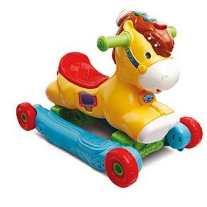 VTech P'tit Galop, Mon poney basculo - Juguetes de Montar (Mon poney basculo, Apertura por Empuje, Animal para Montar, 4 Rueda(s),, Rojo, AAA)