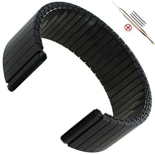 Cobar Elastic Watchband Compatible with Fenix Chronos, 22mm Elasticità Acciaio Inossidabile Cinturini Sostituzione per Garmin Fenix Chronos/Samsung Galaxy Watch (46mm)