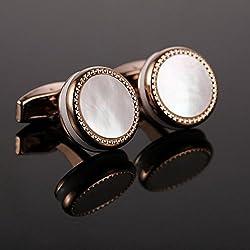 Caliente venta madre perla gemelos francés camisa boda Bouton alta calidad