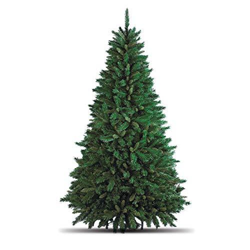 Totò Piccinni Albero di Natale Artificiale, 240 cm (1516 Rami) + Borsone, FOLTO di ALTISSIMA QUALITA', Effetto Realistico, Rami a Gancio, Facile Montaggio, PVC, Base Metallica, Ignifugo