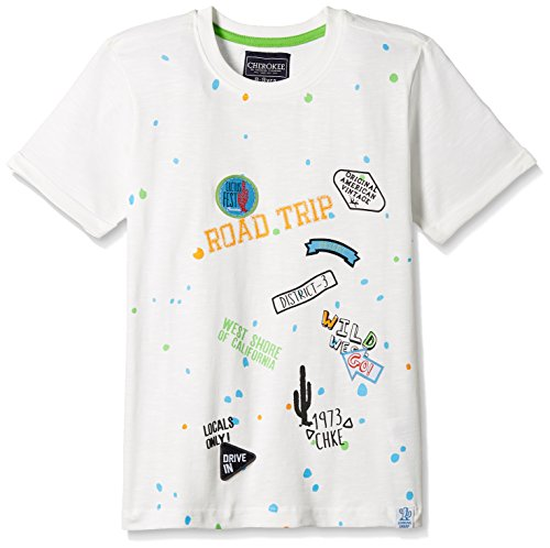 Cherokee by Unlimited Boys' T-Shirt (271282581_OFF-WHITE_11Y_HS)