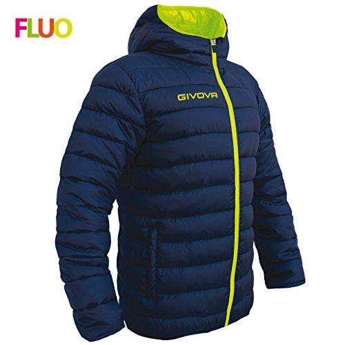 givova G013, Giubbotto Unisex - Adulto, Blu/Giallo Fluo, L