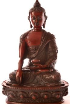 BUDDHAFIGUREN Estatua de Buda – Resina de Shakyamuni Buda Figura 19 cm rotbraun