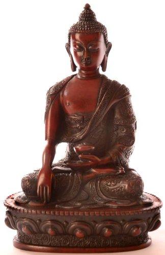 BUDDHAFIGUREN Estatua de Buda - Resina de Shakyamuni Buda Figura 19 cm rotbraun 3