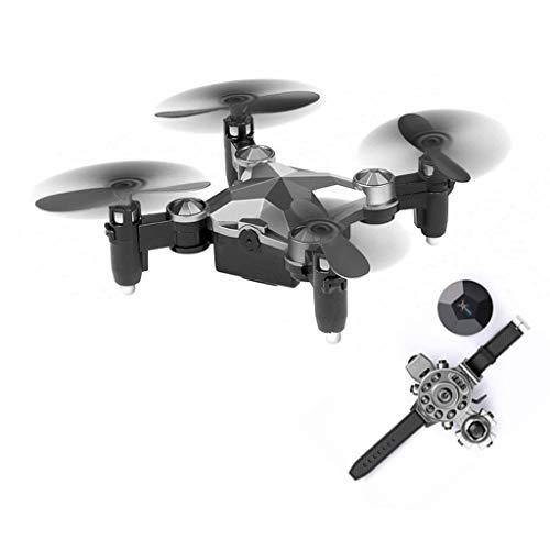 ZhaoMM Drone Tascabile con Fotocamera Mini Orologio Pieghevole Tipo di Controllo Manuale Aerei WiFi...