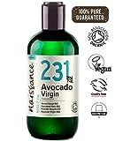 Naissance Aceite Vegetal de Aguacate BIO n. º 231 - 250ml - 100% puro, virgen, prensado en frío,...