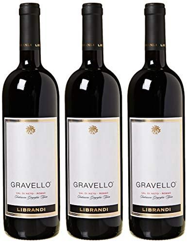 Librandi Vino IGT Val di Neto Rosso Gravello - 2016-3 Bottiglie da 750 ml