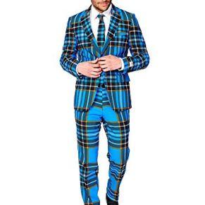 OppoSuits Fun Ugly Christmas Suits For Men – The Rudolph – Full Suit: Jacket, Pants & Tie Traje de Hombre