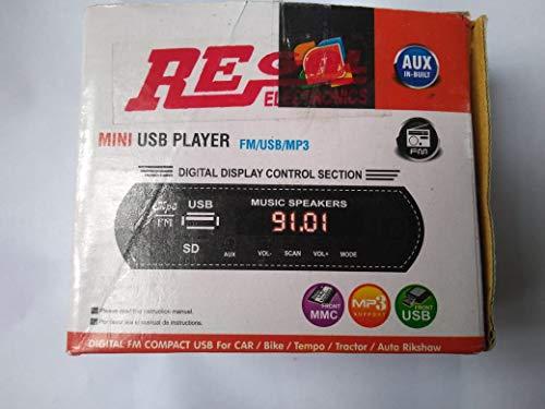 Rashri 12 DC Mini USB Player with Bluetooth for Bike, Auto, Tempo, autoriksaw, 4440 Single IC Used