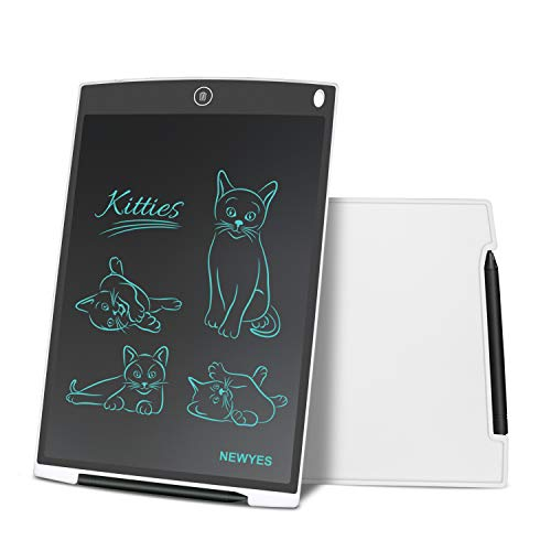 Tableta Gráfica, Tableta de Escritura LCD, Portátil para Hogar, Escuela, Oficina, Incluye 1 lápiz, 2 imanes para Nevera,1 Año de Garantía (Blanco)
